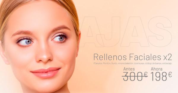 Rebajas Enero - Rellenos Faciales 2 zonas en TodoEstetica.com