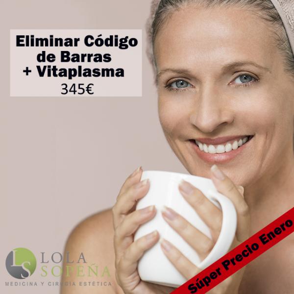 Eliminación Código de Barras + Regalo Vitaplasma  (PRP + Vitaminas) 345€