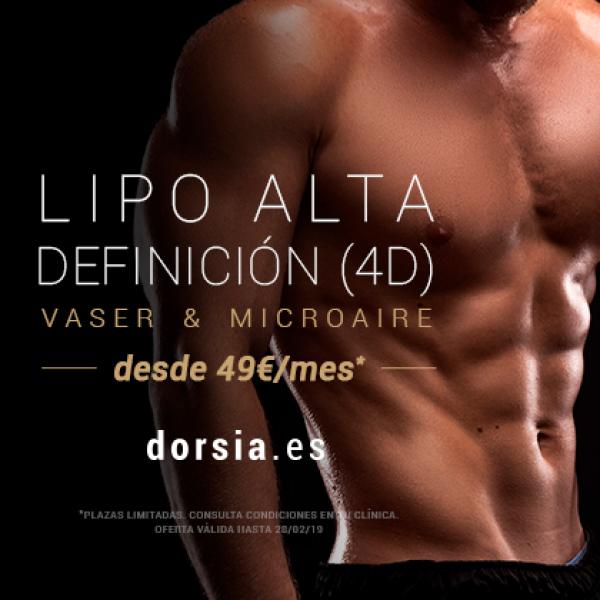 Liposucción Alta Definición 4D (Vaser & Microaire) desde 49€ al mes