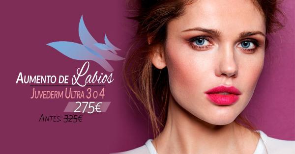 Aumento de labios 275€