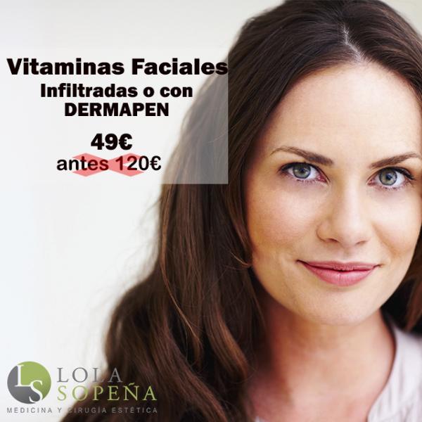 49€ Vitaminas Faciales Infiltradas o con DERMAPEN