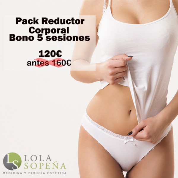 Pack Reductor Corporal Bono 5 sesiones 120€