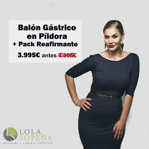3.995€ Balón Gástrico en Píldora + Pack Reafirmante Bono 3 sesiones