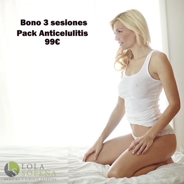 Pack Anticelulitis Bono 3 sesiones 99€