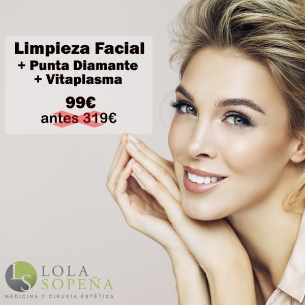 Limpieza Facial + Punta Diamante + Vitaminas + PRP 99€