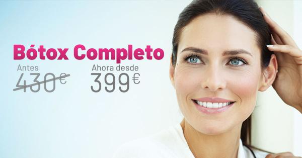 Rebajas - Botox Completo en TodoEstetica.com