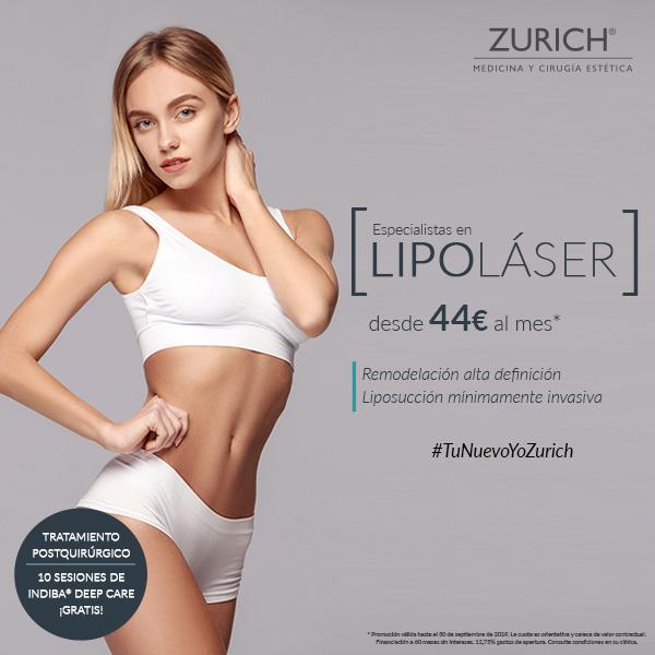 Lipoláser · Despídete de la grasa localizada · ¡Desde 44 euros/mes!