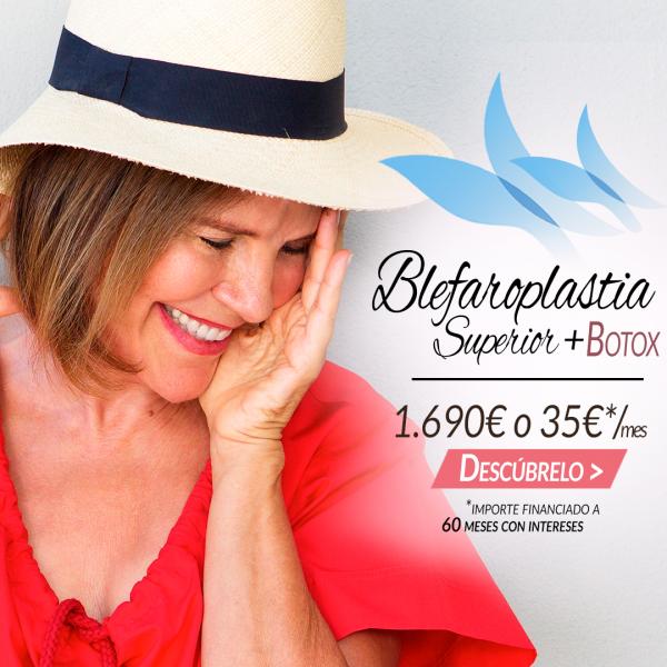 Blefaroplastia Superior + Botox 1690€