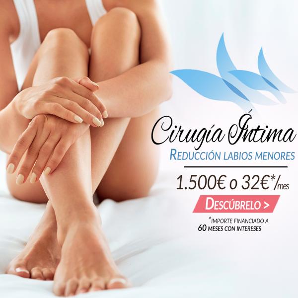 Cirugía íntima, reducción de labios menores 1500€