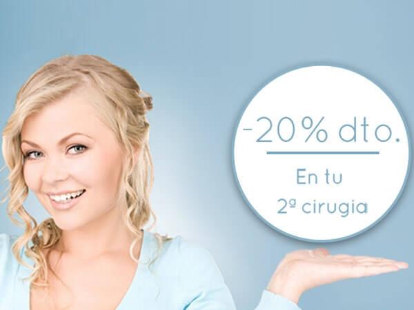 20% Descuento en tu 2ª Cirugía
