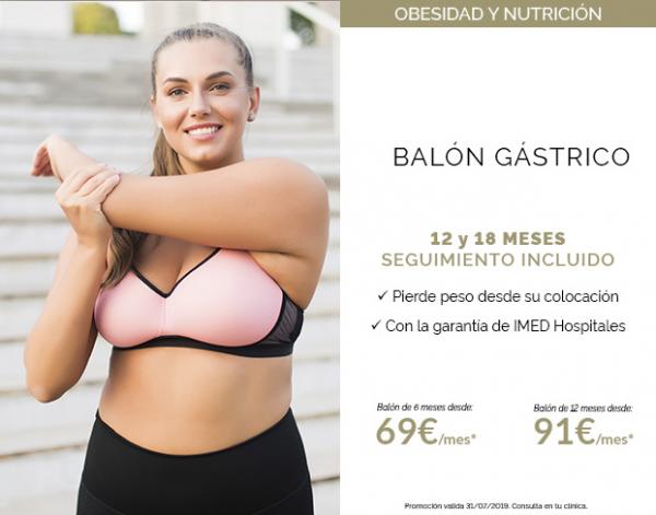 Balón Gástrico con seguimiento nutricional