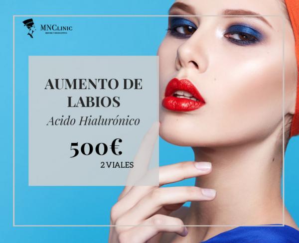 Aumento de Labios 2 viales 500€