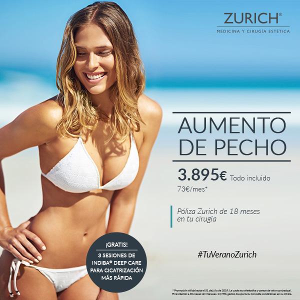 Aumento de pecho por solo 3895€ o 73€ al mes · Solo en Clínicas Zurich