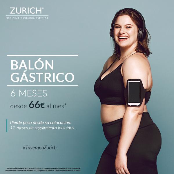Pierde peso desde su colocación desde 66€ al mes · Balón Gástrico