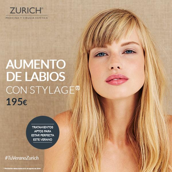 ¿Aumentar el volumen de tus labios por 195€, y en verano? Solo en Clínicas Zurich