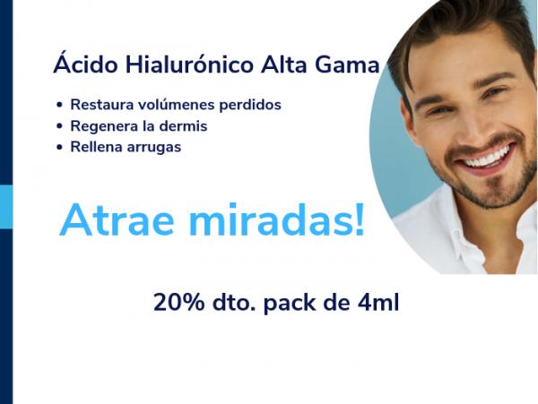 20% de descuento en tratamientos con Ácido Hialurónico de Alta Gama