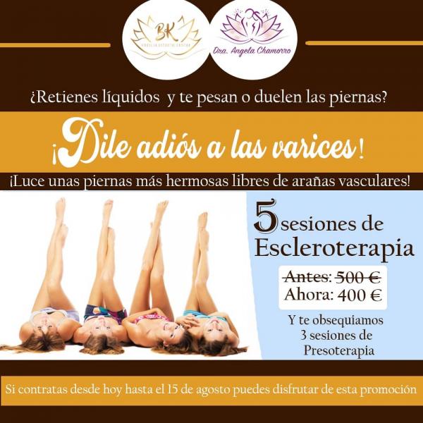 Promo Escleroterapia + Presoterapia
