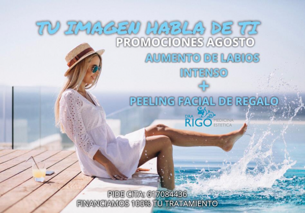 AUMENTO DE LABIOS INTENSO + PEELING FACIAL REGALO en TodoEstetica.com