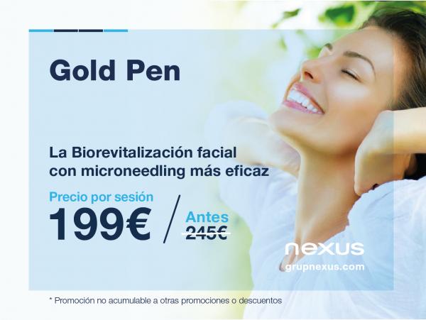 No podrás resistirte a la promoción de Biorevitalización facial con Gold Pen en TodoEstetica.com