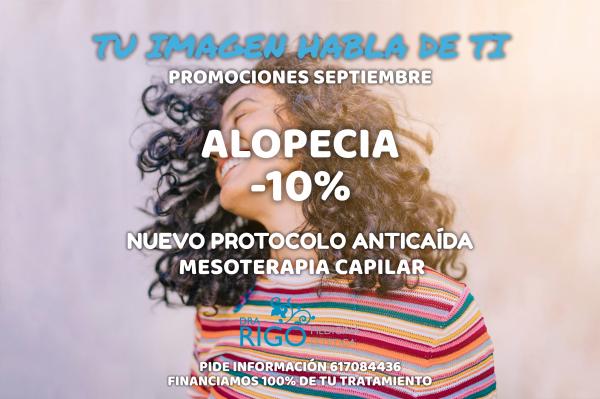 PROMOCIÓN DE SEPTIEMBRE ALOPECIA en TodoEstetica.com