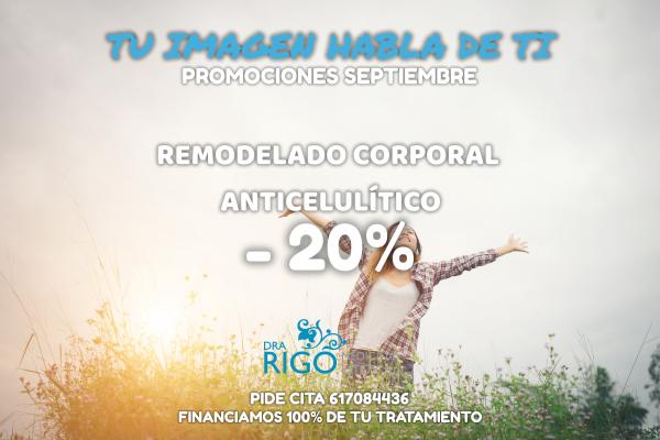 PROMOCIÓN DE SEPTIEMBRE TRATAMIENTO ANTICELULÍTICO en TodoEstetica.com