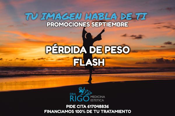 PROMOCIÓN DE SEPTIEMBRE PÉRDIDA DE PESO FLASH en TodoEstetica.com