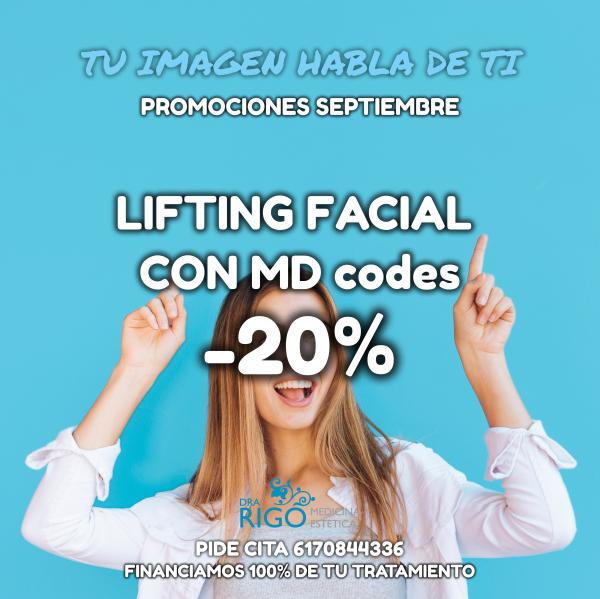 PROMOCIÓN DE SEPTIEMBRE LIFTING FACIAL en TodoEstetica.com