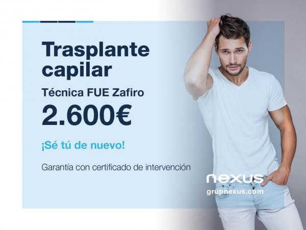 Trasplante capilar por tan solo 2.600€. Certificado de garantia  en TodoEstetica.com