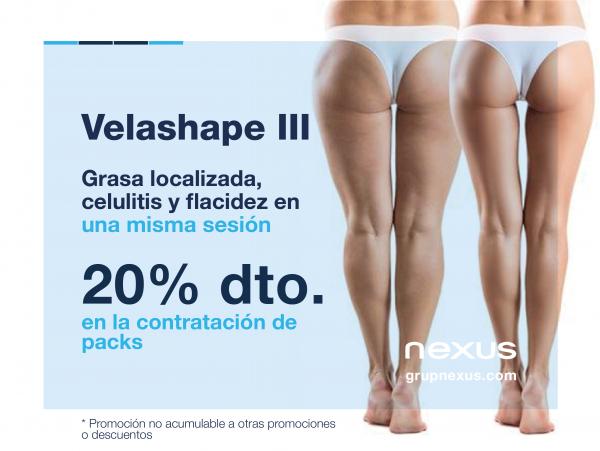 Olvídate de las cartucheras!! 20% de dto. en tratamiento Velashape III