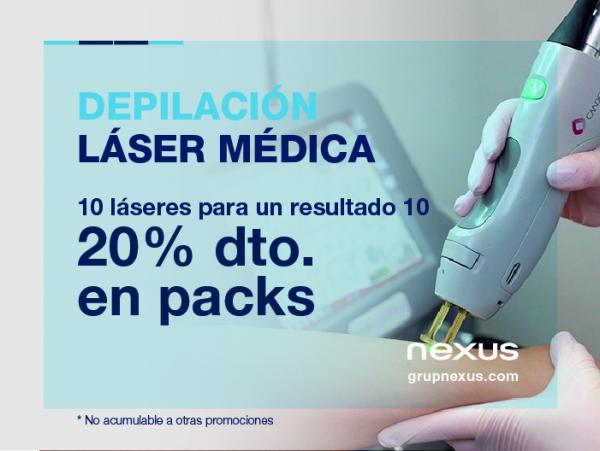 20% dto. en Depilación Láser Médica  en TodoEstetica.com