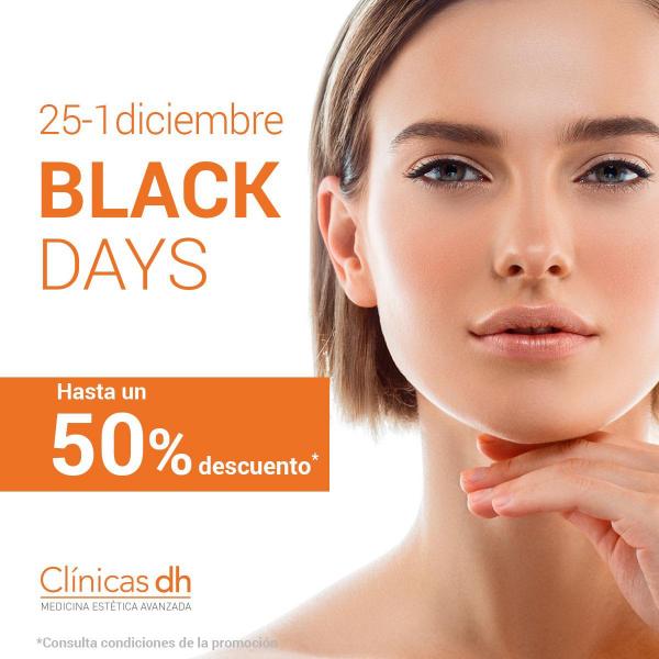 Black Days en Clínicas Dh con descuentos de hasta el 50% en TodoEstetica.com
