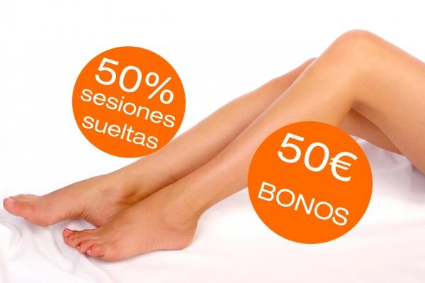 PROMO 50%/50€ FOTODEPILACIÓN