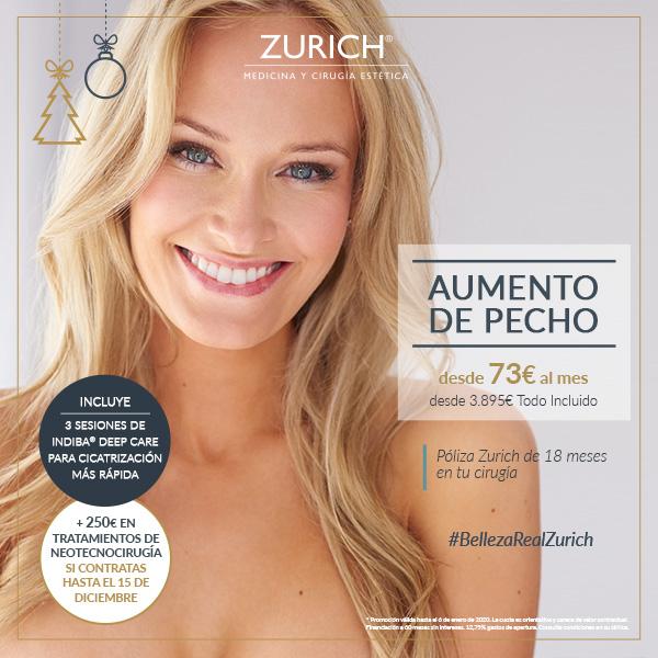 Precios Diciembre · Aumento de pecho en Clínicas Zurich