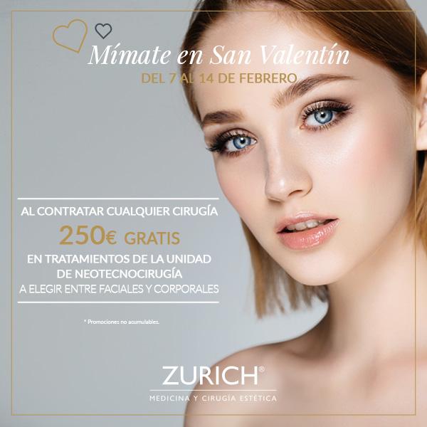 Mímate en San Valentín · Sólo en Clínicas Zurich del 7 al 14 de Febrero