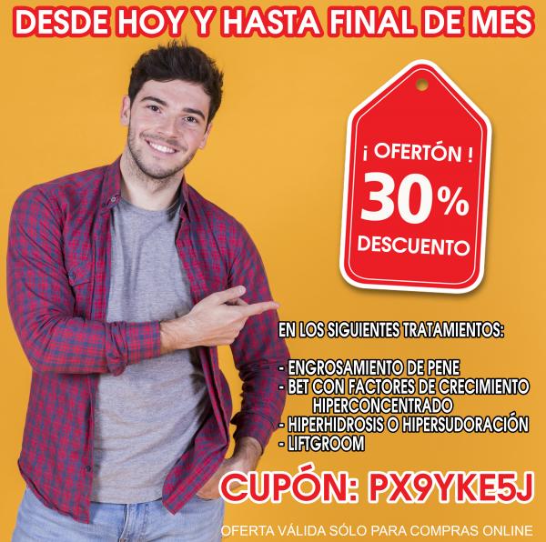 -30% EN ENGROSAMIENTO DE PENE Y OTROS TRATAMIENTOS