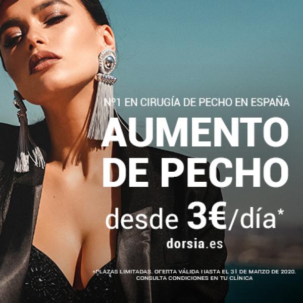 AUMENTO DE PECHO DESDE 3€/DÍA en TodoEstetica.com