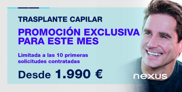 Contrata ahora solo la intervención de trasplante capilar a 1.990€