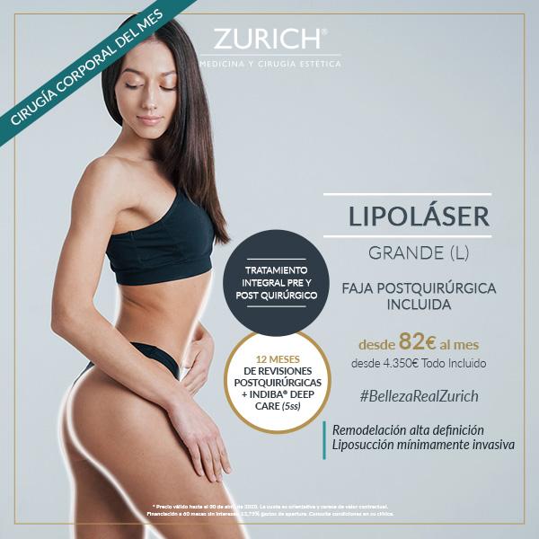 Lipoláser grande (L) · Elimina la grasa localizada · Precio especial Marzo/Abril