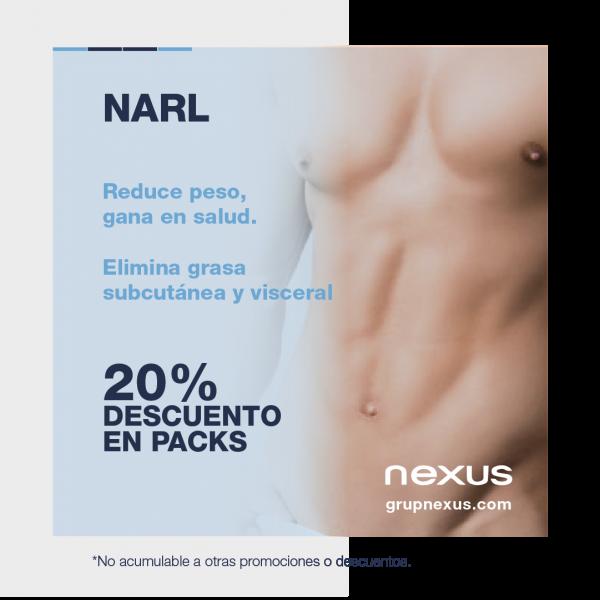 20% dto. en Narl. La única técnica que elimina grasa visceral