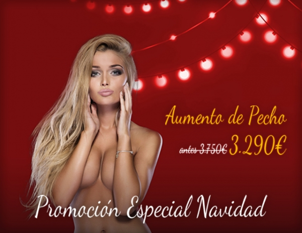 Navidad: Aumento de pecho por 3.290€ en TodoEstetica.com