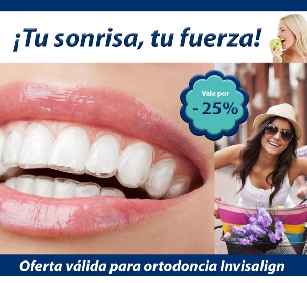 Luce una sonrisa más bonita: 25% de descuento en ortodoncia Invisalign