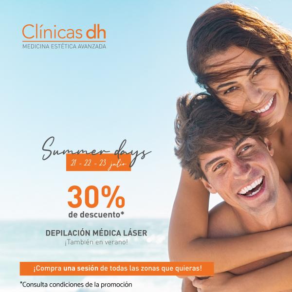 ¡Depilación Médica Láser al 30% de descuento! Sólo tres días