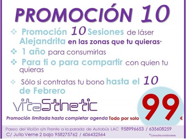 LÁSER ALEJANDRITA, PROMOCIÓN 10