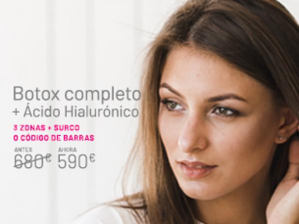 Bótox Completo + 1 Vial de Ácido Hialurónico en TodoEstetica.com