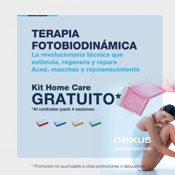 Tu Home Care gratuito al contratar el pack de Terapia Fotobiodinámica antiacné