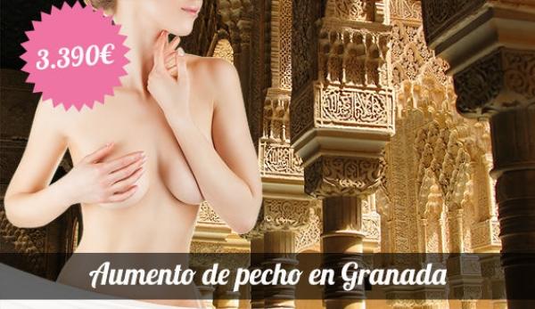 Aumento de pecho en Granada: 3.390 euros