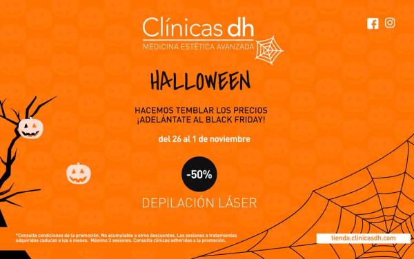 Descuento en depilación láser ¡Semana Halloween! en TodoEstetica.com