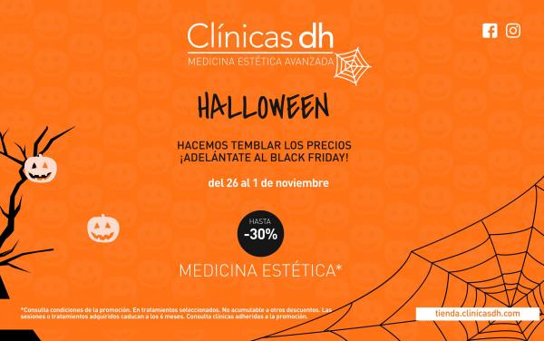 Hasta un 30% de descuento en medicina estética. ¡Halloween!