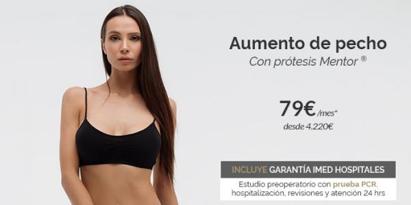 Aumento de pecho con prótesis Mentor · desde 79€/mes