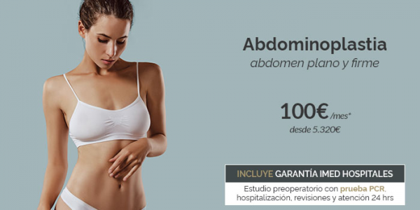 Abdominoplastia · Abdomen plano y firme desde 100€/mes